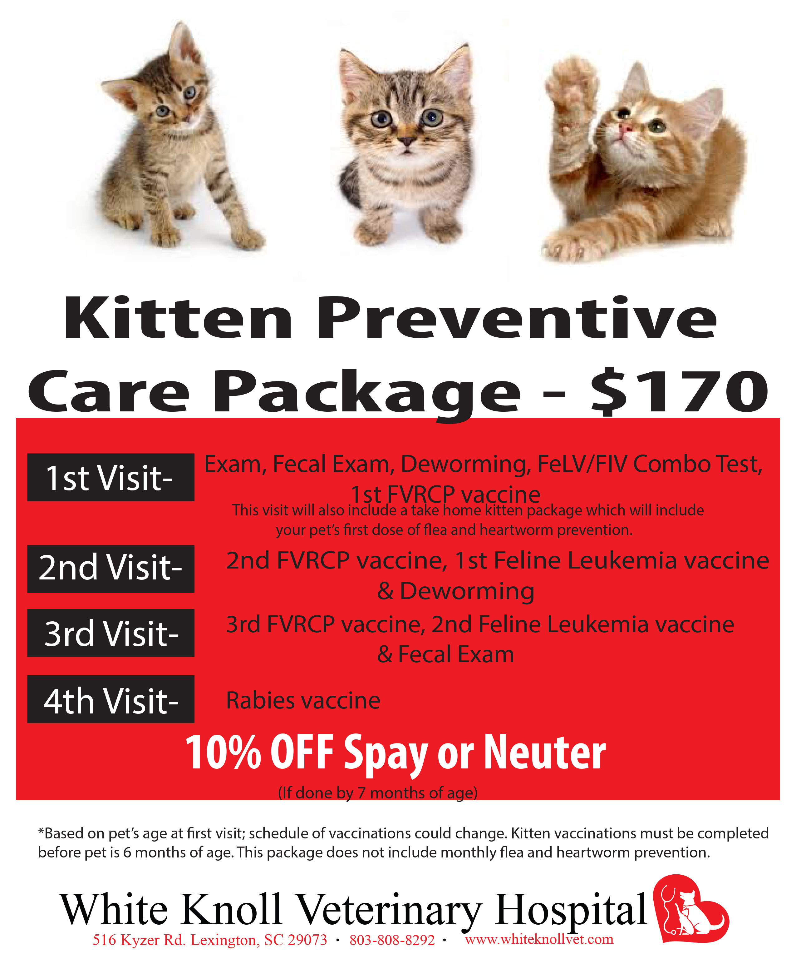 Specials in Lexington, SC - White Knoll Veterinary Hospital